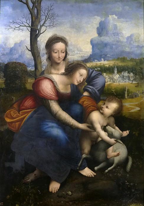 Anónimo (Copia Leonardo da Vinci) -- Santa Ana, la Virgen y el Niño. Part 1 Prado museum