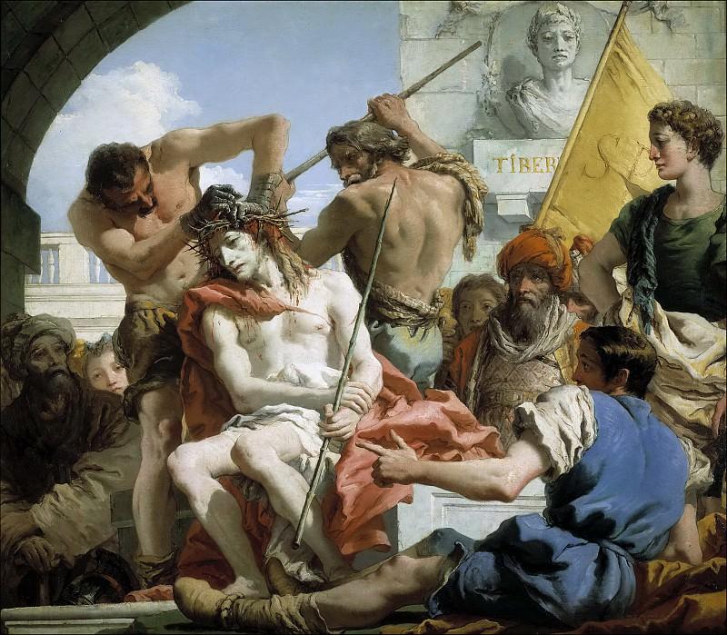 Tiepolo, Giandomenico -- Coronación de espinas. Part 1 Prado museum