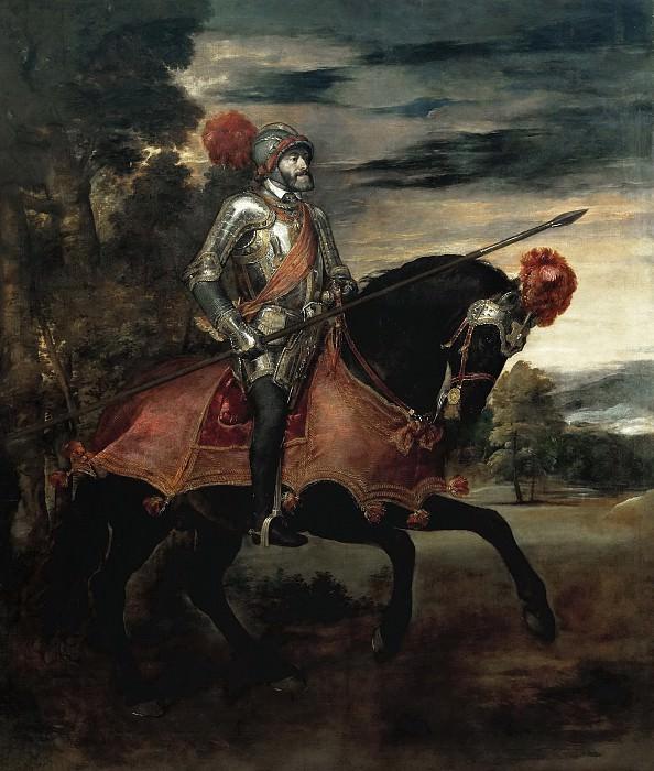 Carlos V en la Batalla de Mühlberg. Titian (Tiziano Vecellio)