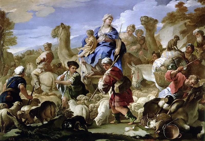 Giordano, Luca -- Viaje de Jacob a Canaán. Part 1 Prado museum