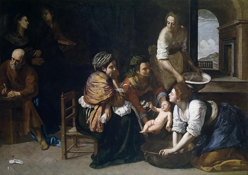 Джентилески, Артемизия -- Рождение Иоанна Крестителя. Часть 1 Музей Прадо
