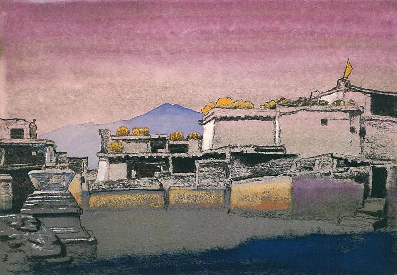 Kardang # 6 or 6B (Etudes village) (Sketch). Roerich N.K. (Part 3)