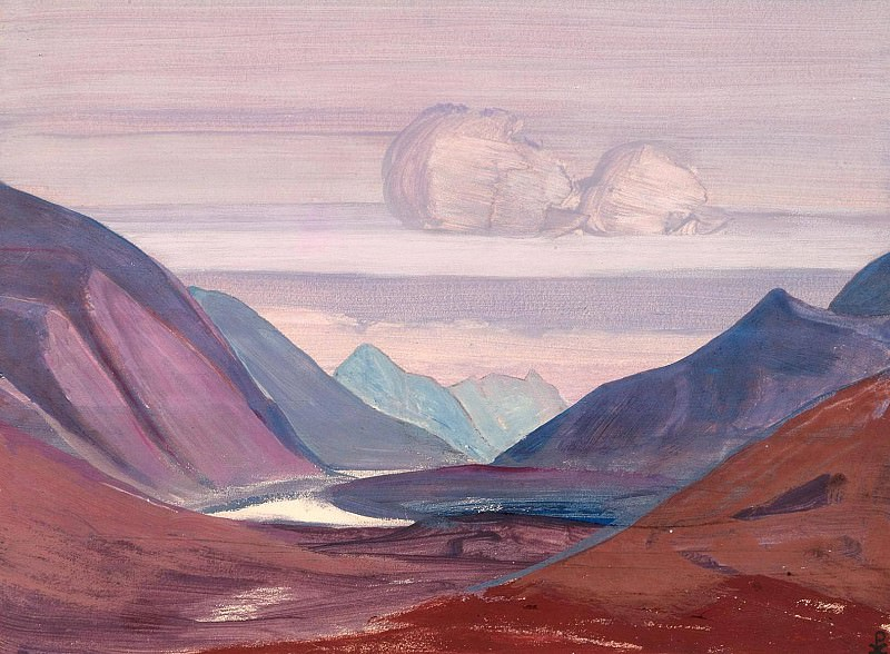 River Chandra (Sketch). Roerich N.K. (Part 3)