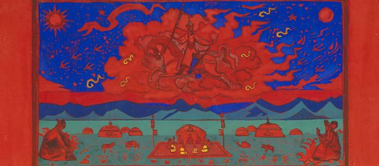 Грядущее (эскиз для «Красный Всадник»). Рерих Н.К. (Часть 3)
