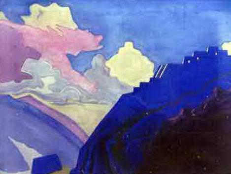 At the Brahmaputra. Roerich N.K. (Part 3) (After)