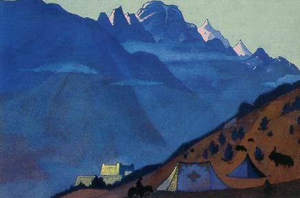Lahul # 28 ( Tibetan mill. Kyelang). Roerich N.K. (Part 3)