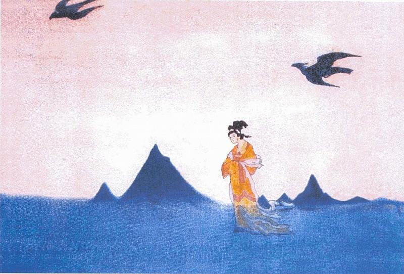 Walk Kuan-Ying (sketch). Roerich N.K. (Part 3)