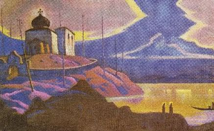 Holy Guests (sketch). Roerich N.K. (Part 3)