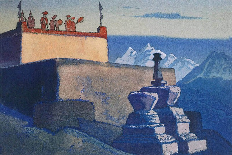 "Evening Call # 88 84) (Evening call ( ""Lahul"" series). Roerich N.K. (Part 3)"