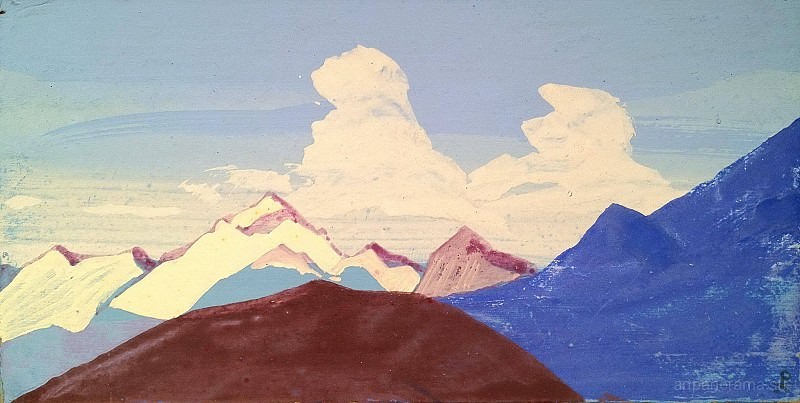 Himalayas. Mountain peaks. Roerich N.K. (Part 3)