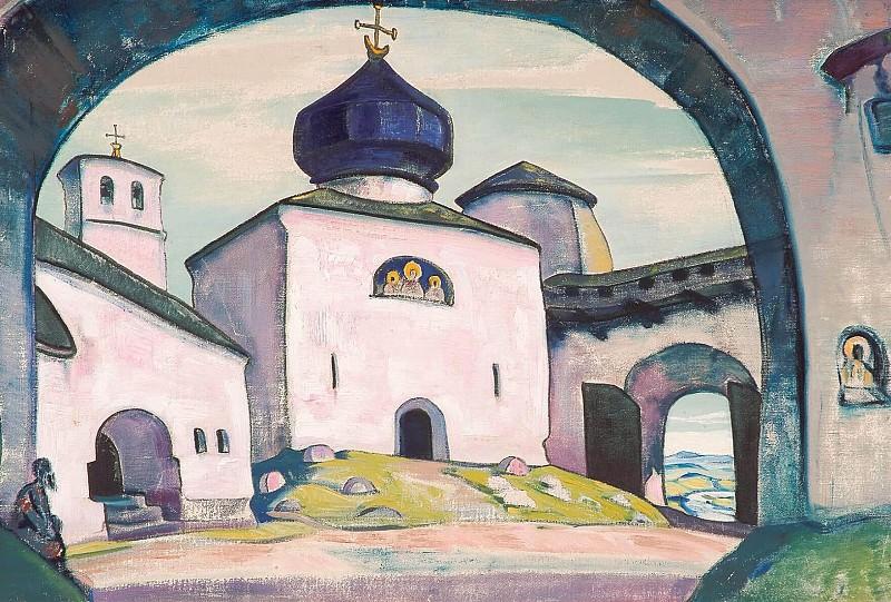 Pskov # 15 (Old Pskov). Roerich N.K. (Part 3)