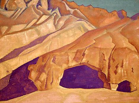Rocks Buddhist caves. Roerich N.K. (Part 3)