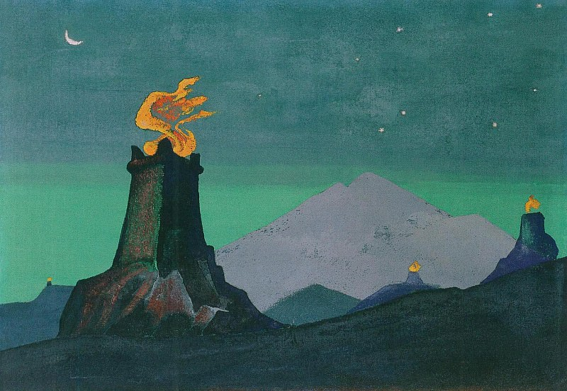 Flowers Timur (Lights of Victory) (sketch). Roerich N.K. (Part 3)