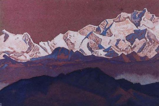 Rocky top. Himalaya # 232. Roerich N.K. (Part 3)