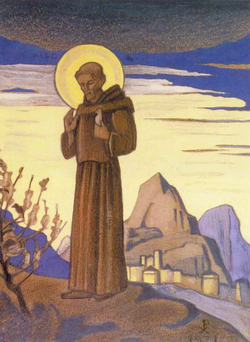 St. Francis. Sketch # 21. Roerich N.K. (Part 3)