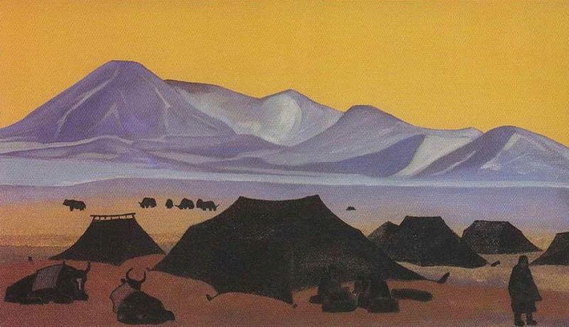Тибетский стан # 69 (65). Рерих Н.К. (Часть 3)