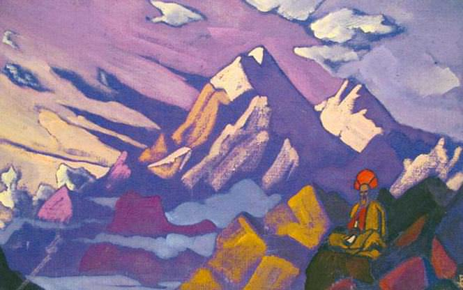 Tibet. Lama in the mountains. Roerich N.K. (Part 3)