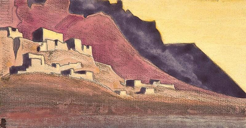 Твердыни Тибета (эск.) #85 (Твердыни Тибета. Этюд). Рерих Н.К. (Часть 3)
