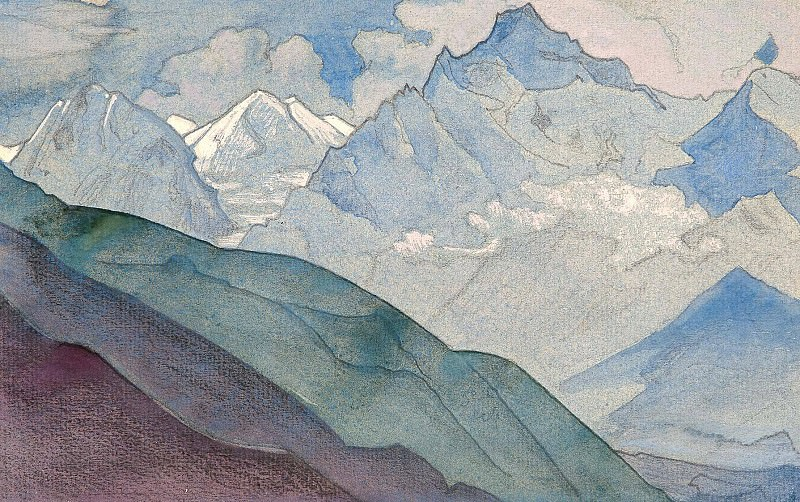 Path to KAILAS ( sketch). Roerich N.K. (Part 3)