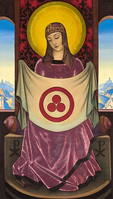 Madonna Oriflamma # 17 (Madonna Oriflamma). Roerich N.K. (Part 3)