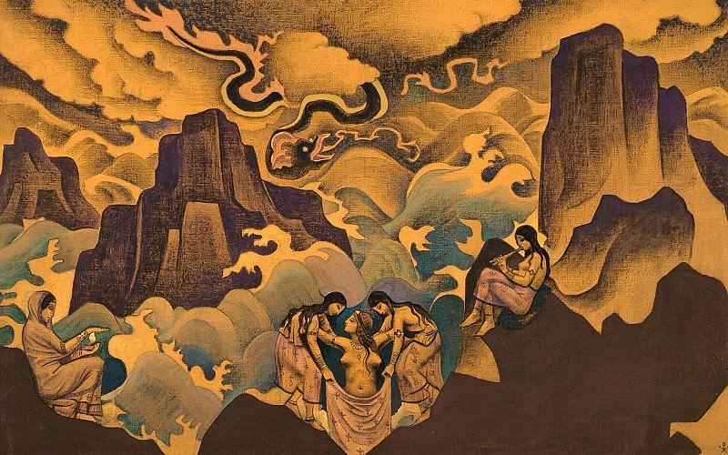 Serpent Wisdom # 29 (old serpent). Roerich N.K. (Part 3)