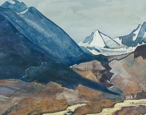 "Scenery for the film ""ienno-Guyot-Dya - friend of the travelers"" (Feast Panzal). Roerich N.K. (Part 3)"