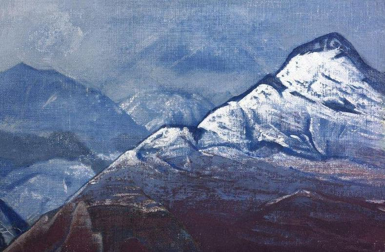 Himalayas in winter # 26 (Himalayas in winter). Roerich N.K. (Part 3)
