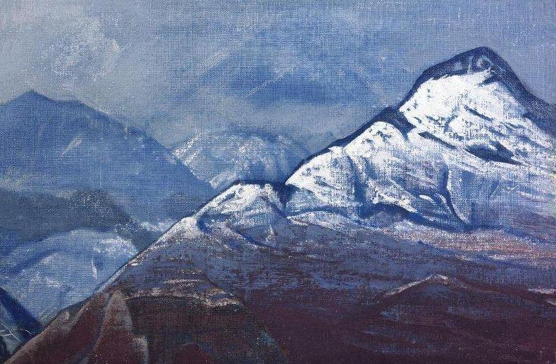 Гималаи зимою #26 (Гималаи зимой). Рерих Н.К. (Часть 3)