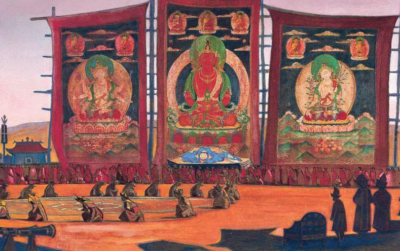 Mongolian Tsam (religious ceremony). Roerich N.K. (Part 3)