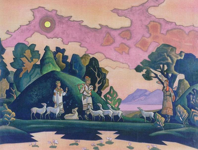 Krishna Lel (Holy Shepherd) # 102. Roerich N.K. (Part 3)