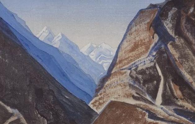 Lahul # 55 Berggezicht in de Himalaja (mountain View Himalayan). Roerich N.K. (Part 3)