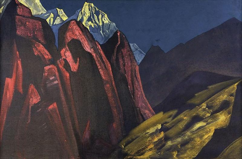 His Shadow # 36 (Shadow of the Teacher. Tibet). Roerich N.K. (Part 3)