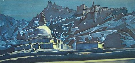 Crossroads paths Christ and Buddha (Mortar in Chez) # 40. Roerich N.K. (Part 3)