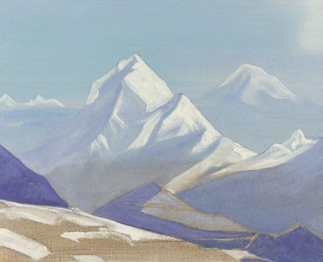 Гималайский пейзаж. Рерих Н.К. (Часть 3)