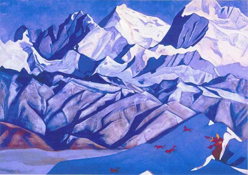 Red horses (horses happiness). Roerich N.K. (Part 3)