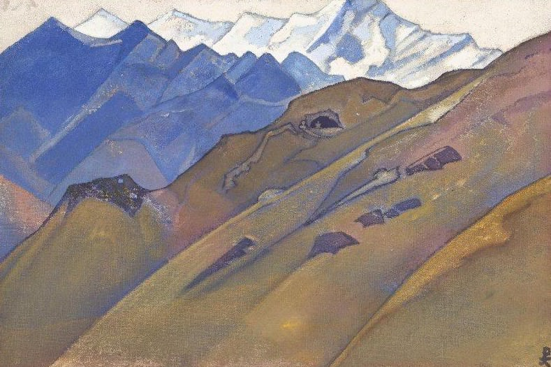 Cave Milarepa # 87 (83) (Cave Milaraypy). Roerich N.K. (Part 3)