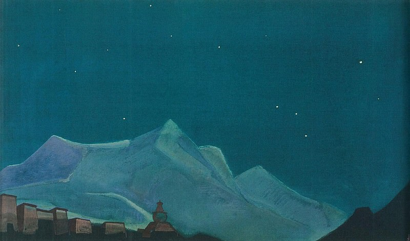 Royal convent (Tibet Stronghold). Roerich N.K. (Part 3)