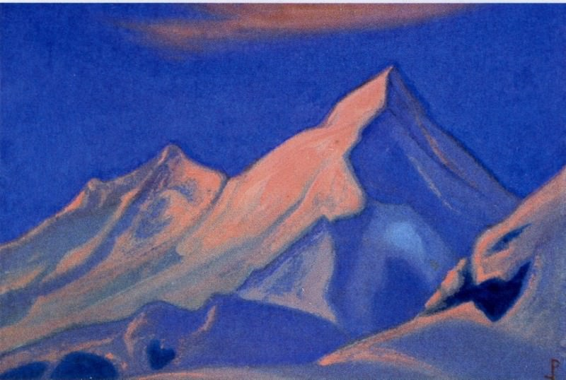 Rocks at sunset. Roerich N.K. (Part 3)