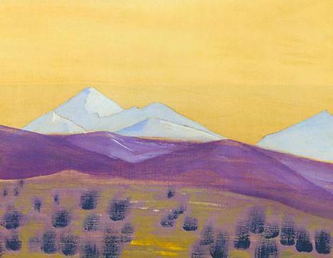 Pass Tanghla (sketch). Roerich N.K. (Part 3)