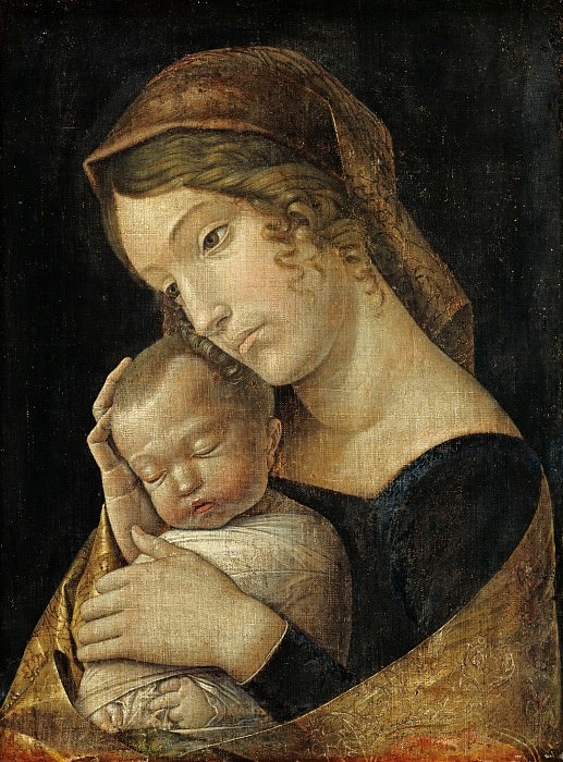 Andrea Mantegna (1431-1506) - The Virgin with the Sleeping Child. Part 1