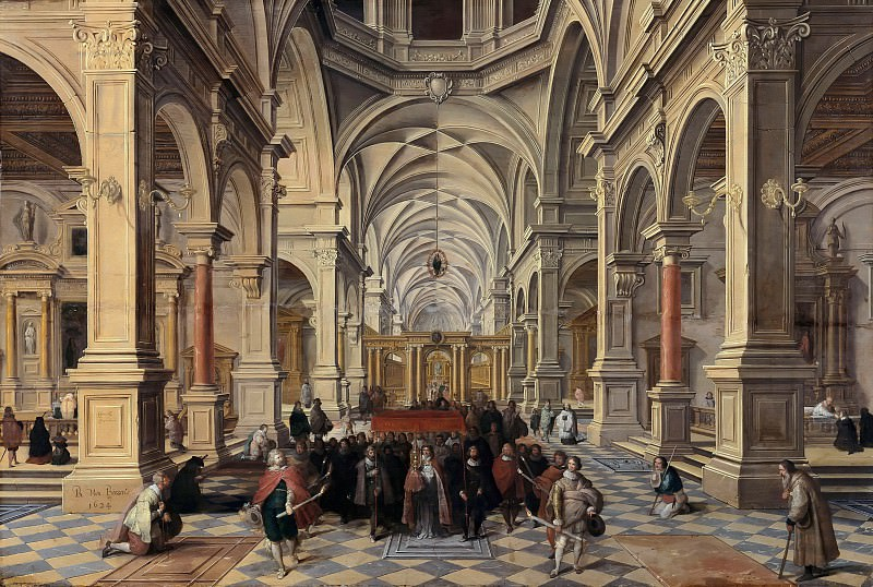 Bartholomeus van Bassen (1590-1652) - Interior of a Church. Part 1