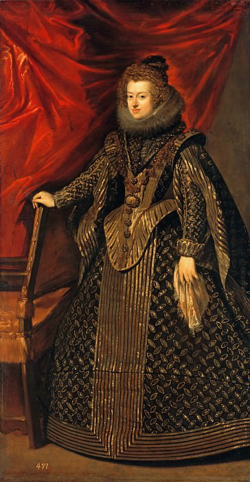 Dona Maria, Infanta of Spain. Diego Rodriguez De Silva y Velazquez (workshop)
