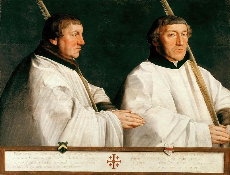 Anthonis Mor van Dashorst (1519-1575) - Portrait of two canons. Part 1