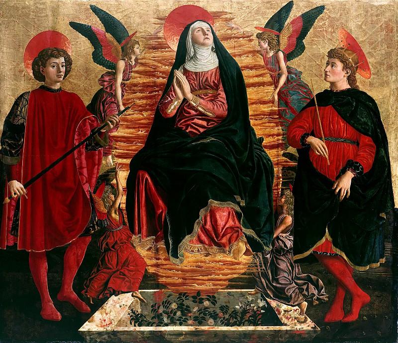 Андреа дель Кастаньо (ок1422-1457) - Вознесение Богородицы со свв Юлианом и Миной. Часть 1