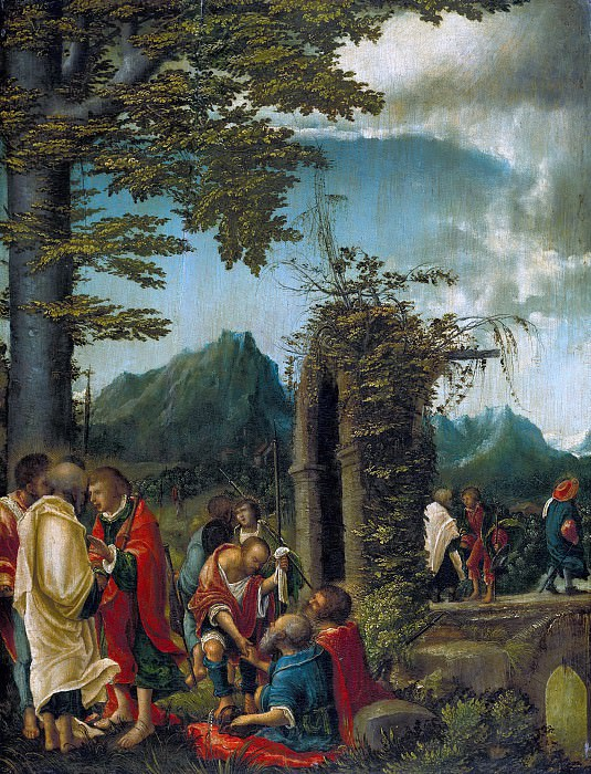 Albrecht Altdorfer (c.1480-1538) - Apostles in a wooded landscape. Part 1