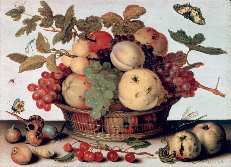 Balthasar van der Ast (1593-94-1657) - Still Life with Fruit Basket. Part 1