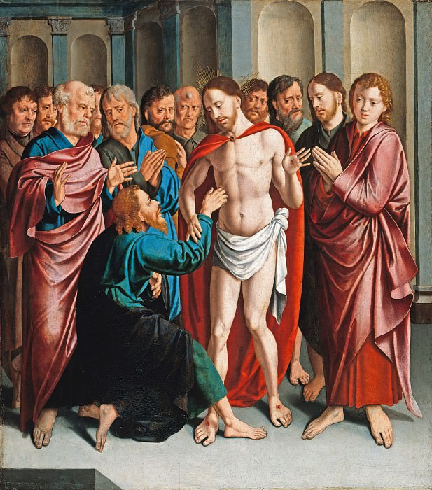 Bartholomeus I Bruyn (1493-1555) - The Doubting Thomas. Part 1