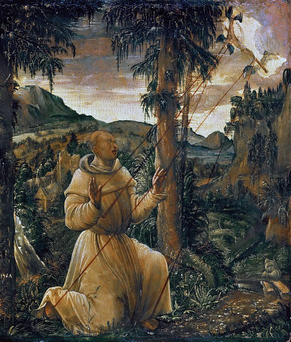 Albrecht Altdorfer (c.1480-1538) - The Stigmatization of St. Francis. Part 1