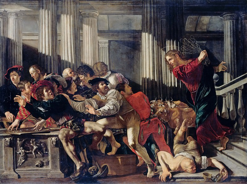 Cecco del Caravaggio - Christ Driving the Moneylenders out of the Temple. Part 1