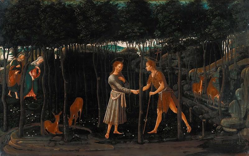 Якопо дель Селайо (1441-42-1493) - Встреча юными Христа и Иоанна Крестителя. Часть 1